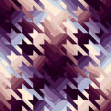 Houndstooth in purple color Stock Photography