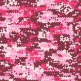 Houndstooth rosado del camuflaje Imagenes de archivo