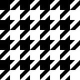 Houndstooth seamless black and white pattern Royalty Free Stock Photo