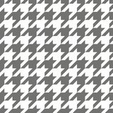 Houndstooth seamless black and white vector pattern Stock Photo