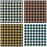 Houndstooth seamless fabric pattern Royalty Free Stock Image