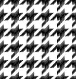 Houndstooth seamless pattern. Black and white vector Royalty Free Stock Images
