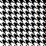 Houndstooth seamless pattern. Black and white vector abstract background.  stock illustration