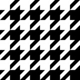 Houndstooth seamless pattern. Black and white vector abstract background.  royalty free illustration