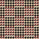 Houndstooth seamless pattern for clothes design.Trendy fabric ab Royalty Free Stock Photos