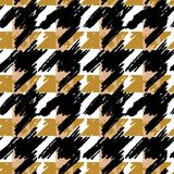 Houndstooth seamless pattern for clothes design.Trendy fabric ab. Stract print with  houndstooth  black set on colorful backdrop Geometric improvisation on a Stock Image