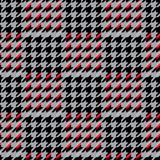 Houndstooth seamless pattern for clothes design.Trendy fabric ab. Stract print with  houndstooth  black set on colorful backdrop Geometric improvisation on a Stock Photography