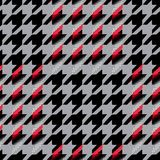 Houndstooth seamless pattern for clothes design.Trendy fabric ab Stock Images