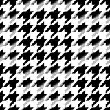 Houndstooth seamless pattern for clothes design.Trendy fabric ab Stock Photos