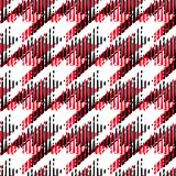 Houndstooth seamless pattern for clothes design.Trendy fabric ab. Stract print with  houndstooth  black set on colorful backdrop Geometric improvisation on a Royalty Free Stock Image