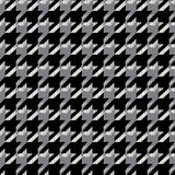 Houndstooth seamless pattern for clothes design.Trendy fabric ab. Stract print with  houndstooth  black set on colorful backdrop Geometric improvisation on a Stock Photos