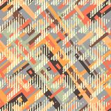Houndstooth seamless pattern for clothes design.Trendy fabric ab. Stract print with  houndstooth  black set on colorful backdrop Geometric improvisation on a Stock Images