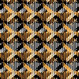 Houndstooth seamless pattern for clothes design.Trendy fabric ab. Stract print with  houndstooth  black set on colorful backdrop Geometric improvisation on a Royalty Free Stock Photos