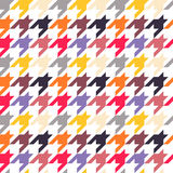 Houndstooth seamless pattern, colorful Royalty Free Stock Photography