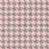 Abstract seamless patterns. Houndstooth seamless pattern- illustration. Background of small circles. Calm muted pastel color stock illustration
