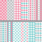 Houndstooth seamless pattern set Royalty Free Stock Image