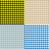 Houndstooth Seamless Patterns Set. Houndstooth Seamless Patterns collection Set royalty free illustration