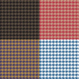 Houndstooth Seamless Patterns Set. Collection stock illustration