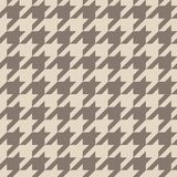 Houndstooth seamless vector brown pattern or tile background Stock Image