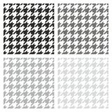 Houndstooth tile vector grey, black and white pattern set Royalty Free Stock Image