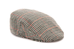 Houndstooth Tweed Hunting Flat Cap Royalty Free Stock Images