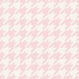Houndstooth vector seamless pastel pink and grey tile pattern or background Stock Image