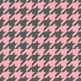 Houndstooth vector tile pink and grey pattern or background Stock Image