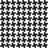 Houndstooth-Verzierung von Schwarzweiss-Farben Handgemaltes nahtloses Muster mit flacher Markierung Stockfotos