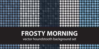 Houndstooth wzoru ustalony Mroźny ranek bezszwowy wektora ilustracja wektor