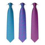 Houndstooth and zigzag patterns ties Royalty Free Stock Photos