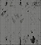 Houndstooth,染色de poule无缝黑和 免版税库存照片
