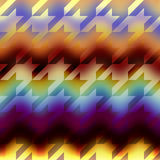 Houndstooths pattern on chevron blurred background Royalty Free Stock Photo