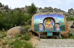 Hounoring Buddha royalty free stock image