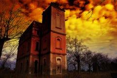 hounted hus Royaltyfri Fotografi