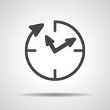 24 hour assistance , clock Icon Royalty Free Stock Photos