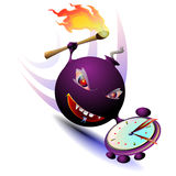 Hour-bomb. The clock bomb is ready to blow itself up. The suicide bomb Stock Images