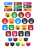 24 Hour Delivery Badges. Large set of shipping badges and icons Stock Image