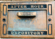 After Hours bank depository box Stock Image
