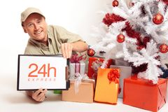 24 Hour Express Delivery, Even On Christmas! Stock Photography