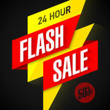 24 hour Flash Sale banner. Illustration Stock Image