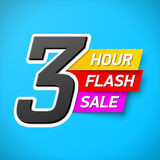 3 Hour Flash Sale banner. Special offer, big sale, clearance Royalty Free Stock Images