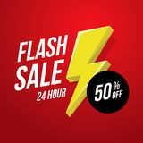 24 hour Flash Sale banner. Vector illustration Stock Photography