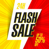 24 hour Flash Sale bright banner. Illustration Stock Photography