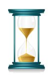 Hour Glass. Illustration of hour glass showing time on isolated background royalty free illustration