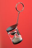 Hour glass on a key chain Stock Photography