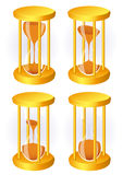 Hour glass set. Vector illustration Stock Image