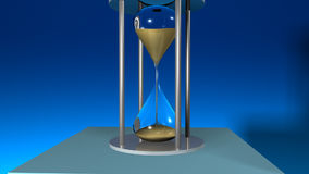 Hour Glass showing passing time royalty free illustration