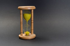 Hour-glass single Stock Image