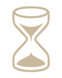 Hour glass symbol. Closeup drawing of hour glass symbol on white background Stock Photography