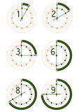 Hour icons set Stock Images